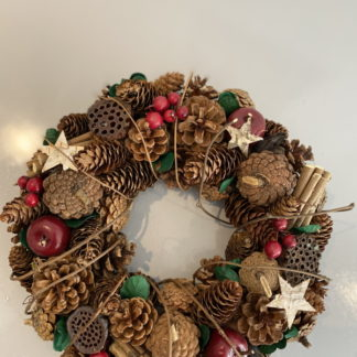 Large natural wreath christmas decoration