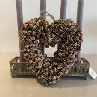 Gold Love Heart Christmas Decoration