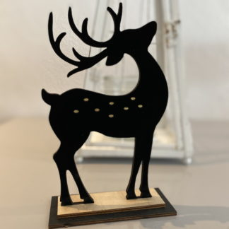 black reindeer christmas ornament