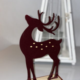 wine reindeer christmas ornament
